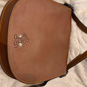 Disney Coach large brown saddle bag $500